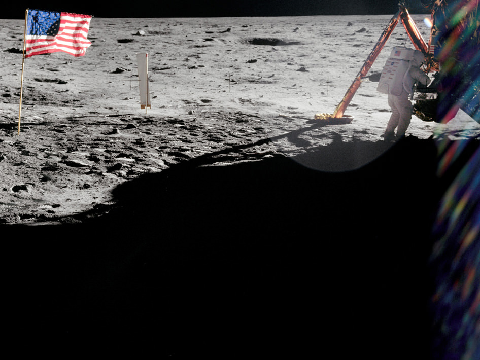 Neil Armstrong on the Lunar