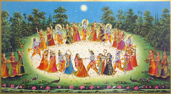 The harvest festival of Shrad Purnima is celebrated on the full moon day of the Hindu lunar month of Ashvin. Credit: http://dfwhindutemple.org