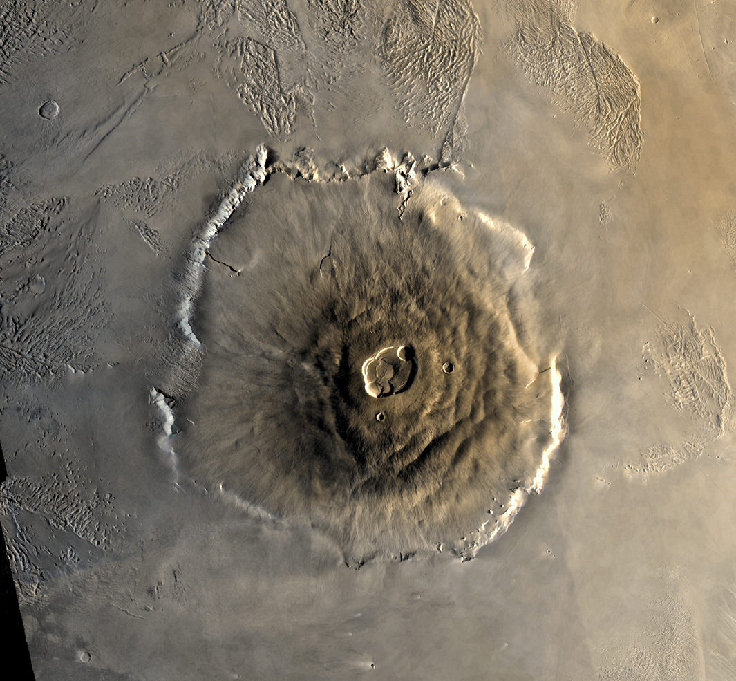 Color Mosaic of Olympus Mons on Mars