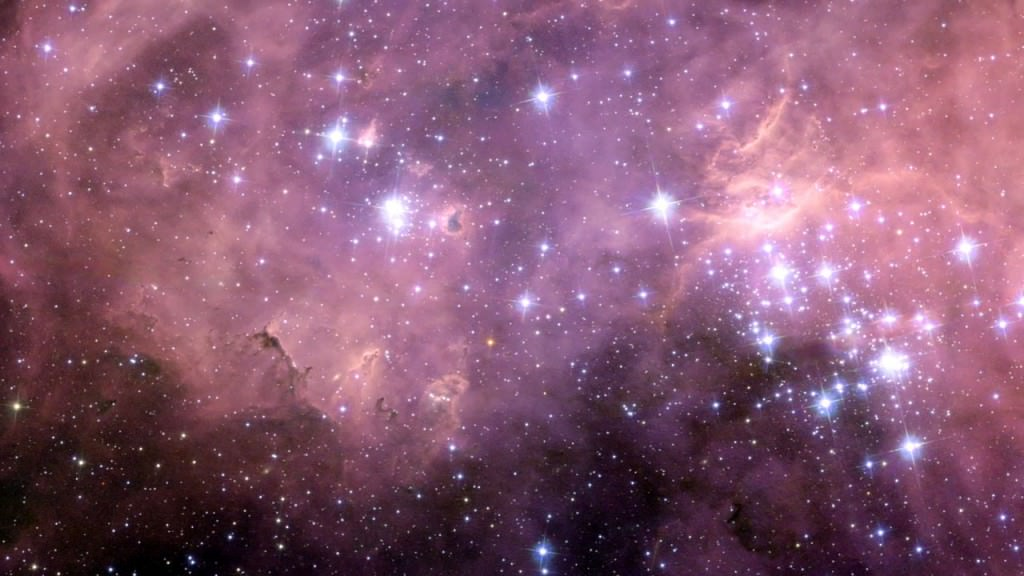 Hubble view of the huge star formation region N11 in the Large Magellanic Cloud.