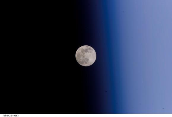 Full Moon Against Earth's Limb