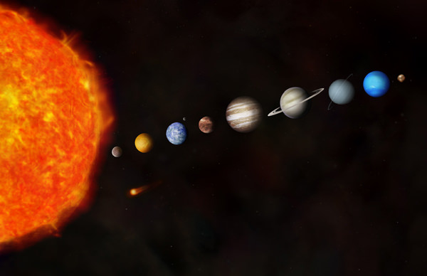 what causes the planets and moons in our solar system to orbit the sun - photo #34