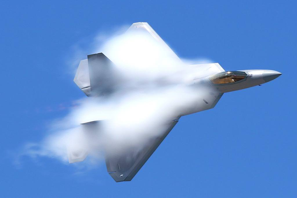 An F 22 Raptor Reaching A Velocity High Enough To Achieve Sonic Boom Credit Strangesounds Org