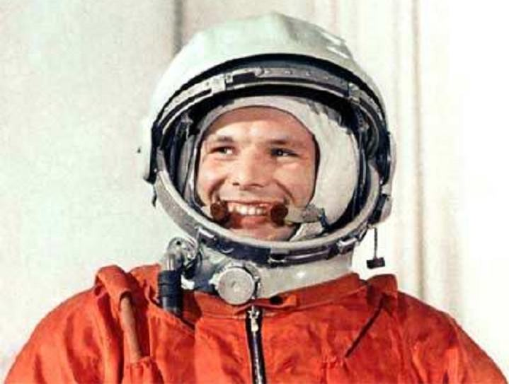 Yuri Gagarin, posing for a photo op before the Vostok 1 mission on April 12th, 1961 Credit: