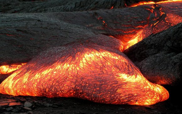 "Igneous rock (aka. ""fire rock"") is formed from cooled and solidified magma. Credit: geologyclass.org"
