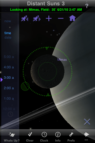 Screenshot of the Distant Suns version 3.