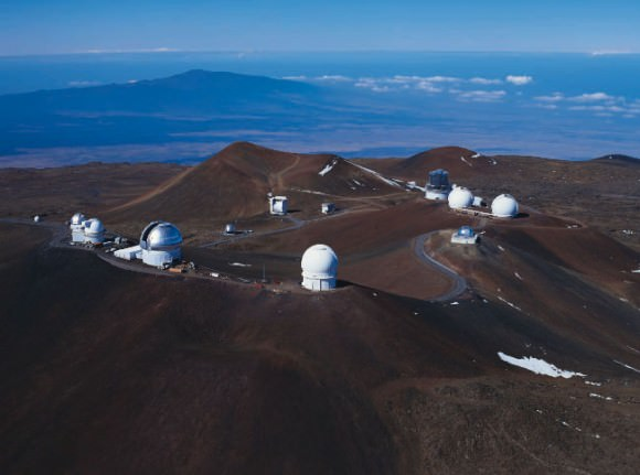 Mauna Kea summit as seen from the northeast. Credit: University of Hawaii.
