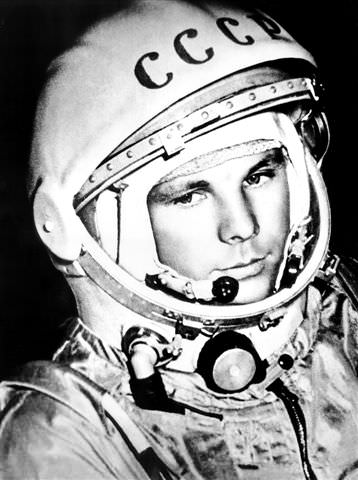 Yuri Gagarin - first human in space. Credit: Russian Archives