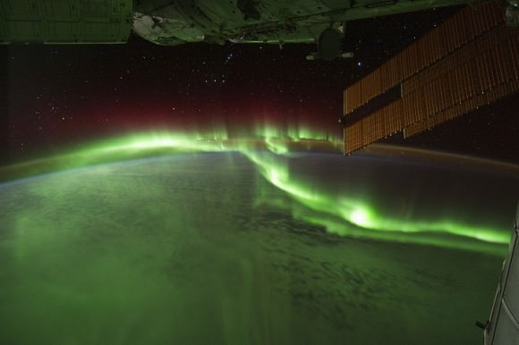 The aurora australis seen from the ISS on September 17, 2011. Credit: NASA.