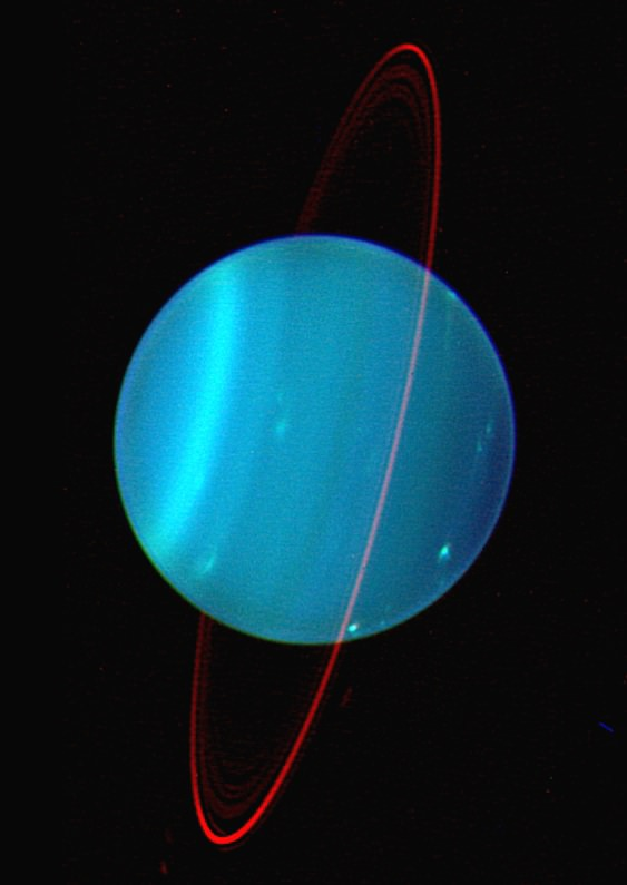 Between 3 to 4 billion years ago, a body twice the size of Earth impacted Uranus, knocking the ice giant onto its side. Image Credit: Jacob A. Kegerreis/Durham University