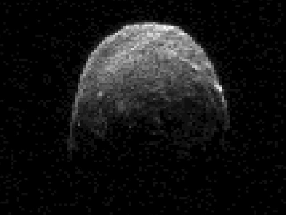 This radar image of asteroid 2005 YU55 was obtained on Nov. 7, 2011. Credit: NASA/JPL/Caltech.
