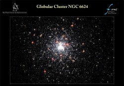 This cluster is 27,000 light-years away and lies farther than the center of our galaxy in the constellation Sagittarius. Credit: NASA/ESA/I. King, Univ. of Calif., Berkeley/Wikisky.org