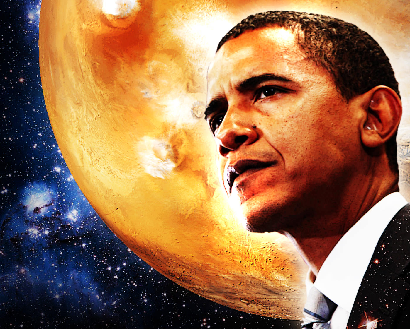 Image result for obama mars