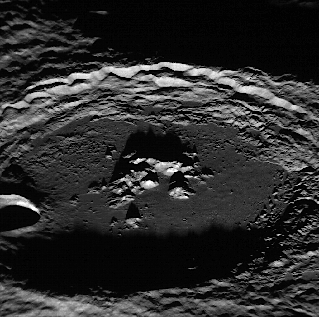 MESSENGER image of Mercury's Amaral crater