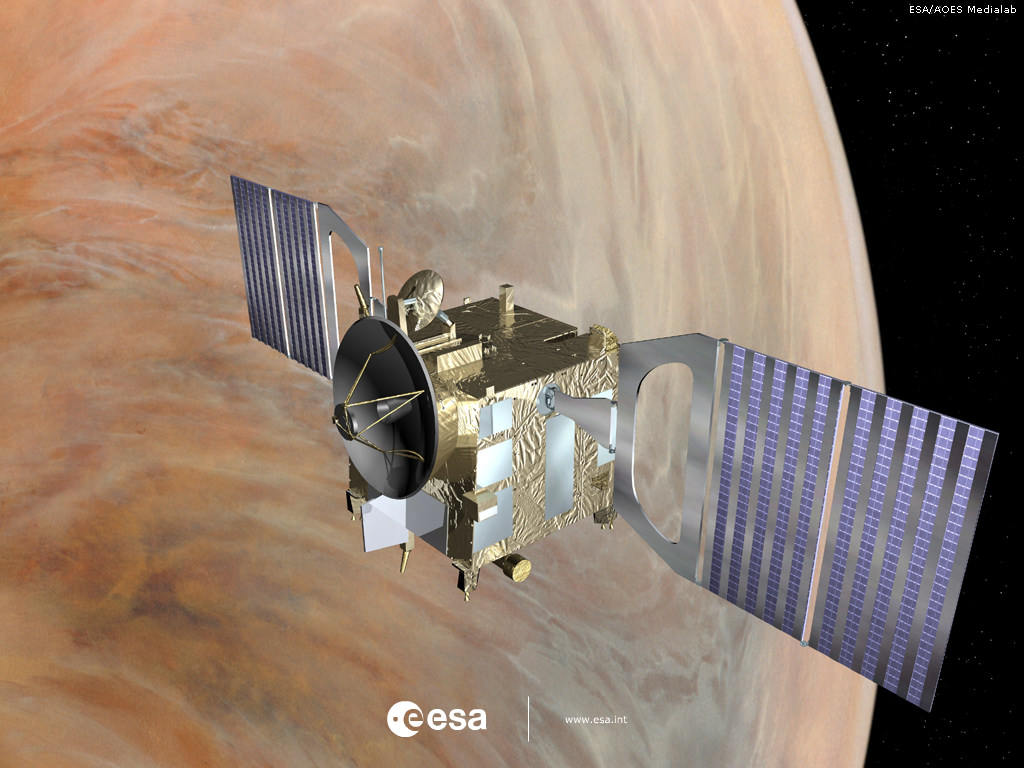 Venus Express in orbit since 2006 around our nearest planetary neighbor.   Credits: ESA