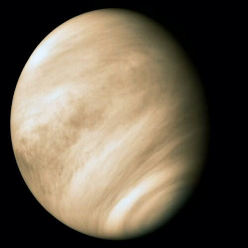 Venus as photographed by the Pioneer spacecraft in 1978. Some exoplanets may suffer the same fate as this scorched world. Credit: NASA/JPL/Caltech
