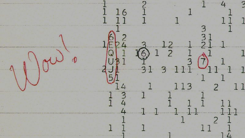 "The ""Wow!"" signal. Credit: Wikimedia Commons"