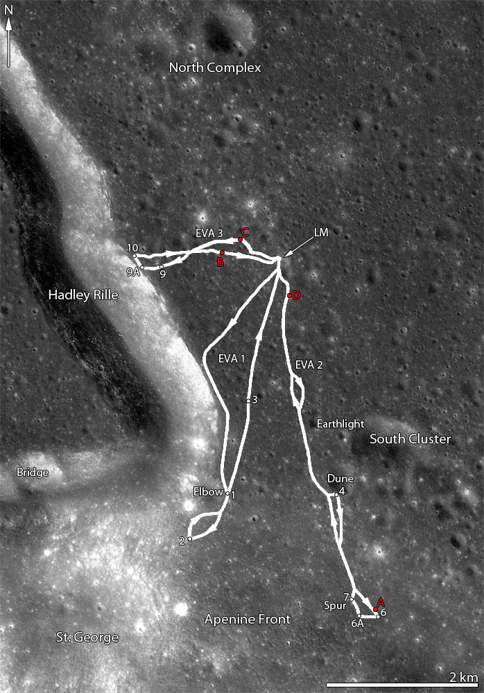 location moon map landing site apollo 12 - photo #45