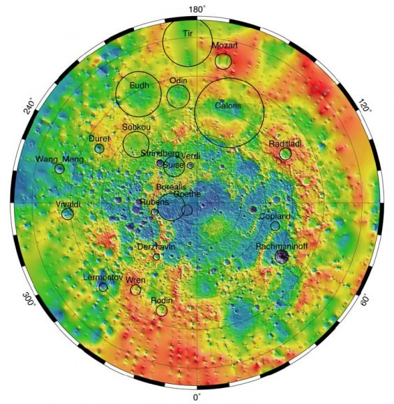 Mercury Topography Northern Hemisphere