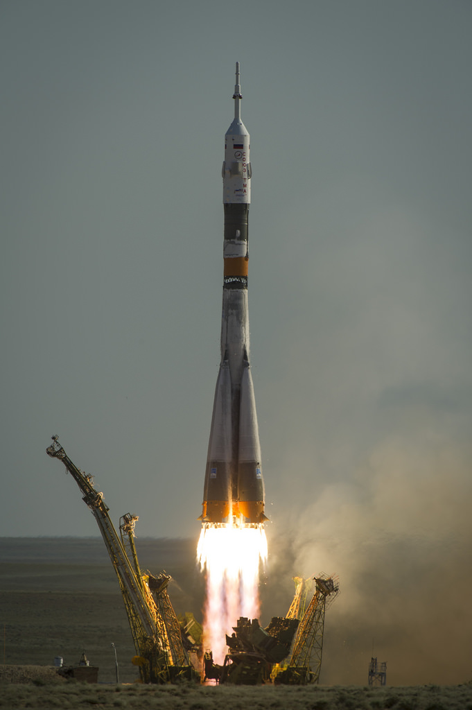 Launch of the Soyuz TMA-04M rocket from the Baikonur Cosmodrome on May 15, 2012 (NASA/Bill Ingalls)