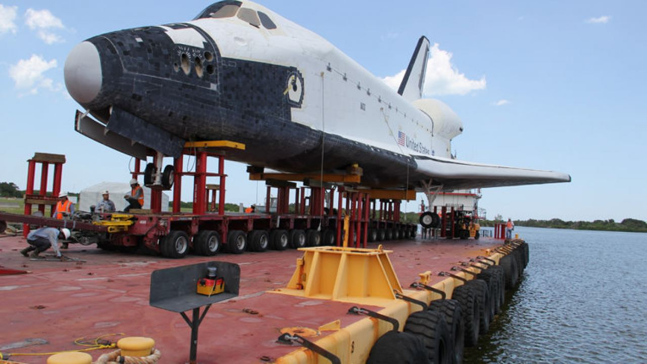 Shuttle Replica Departs Kennedy for Ocean Voyage to Houston