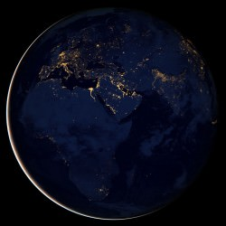 City lights of Africa
