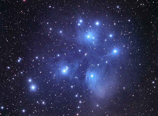 M 45: The Pleiades. Credit: Chuck Manges