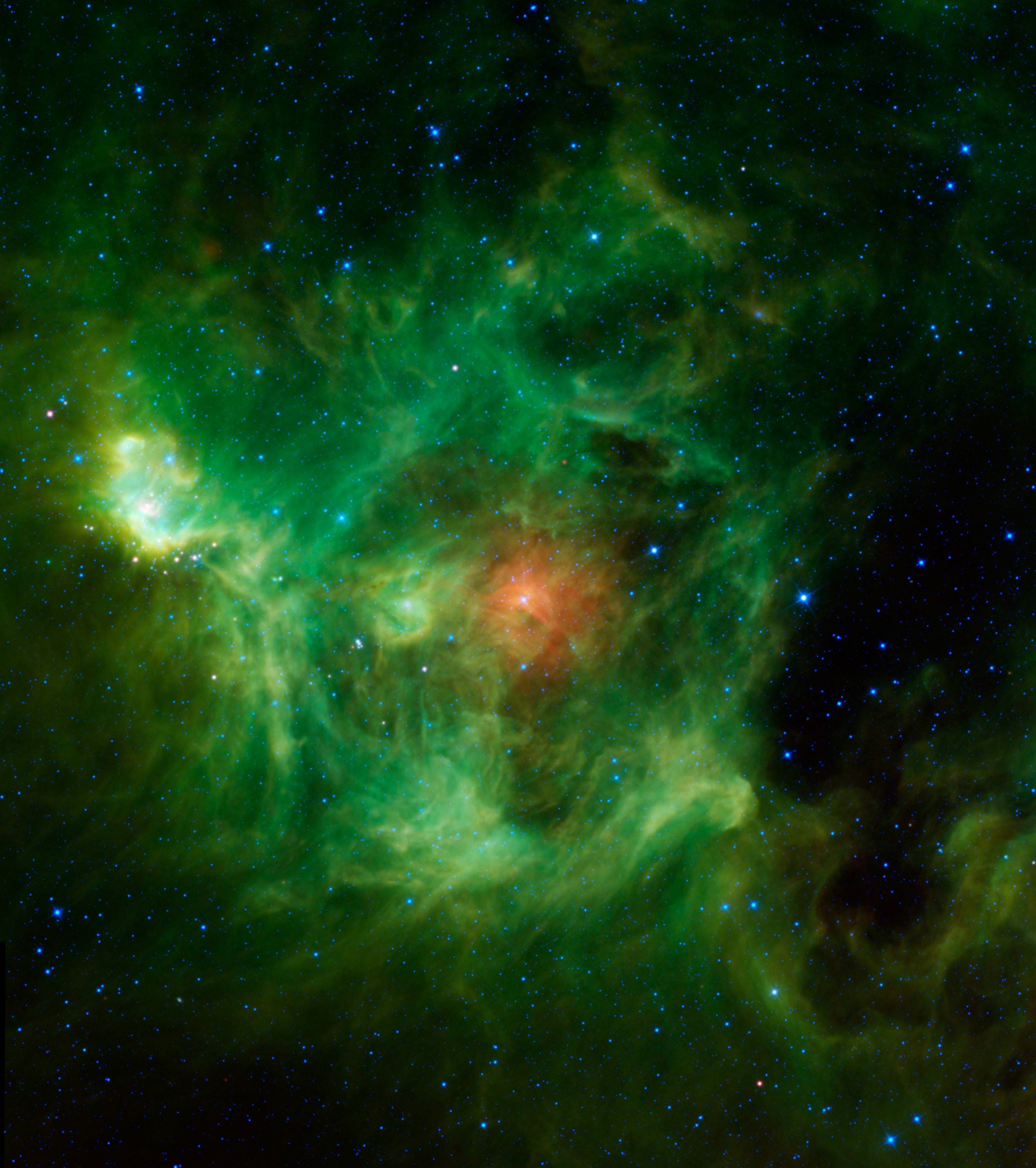 astronomy blue and green backgrounds - photo #38