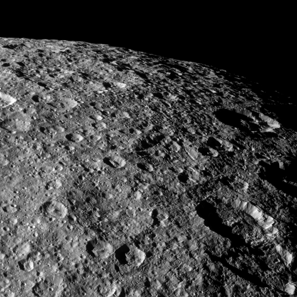 These are the last close up images of the moon rhea from - Moon close up ...