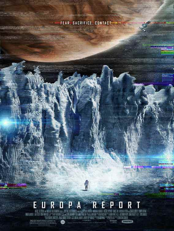 Europa Report was a 2013 film that focused on a human mission to the Jovian moon. Poster by Start Motion Pictures.