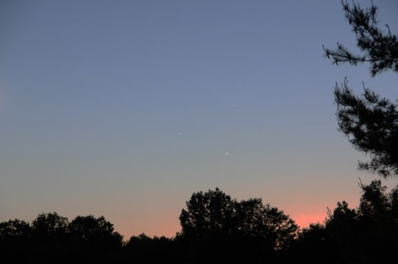 May 26 sunset conjunction from Princeton, NJ. Credit: Ken Kremer -kenkremer.com