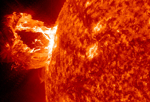 In this image, the Solar Dynamics Observatory (SDO) captured an X1.2 class solar flare, peaking on May 15, 2013. Credit: NASA/SDO
