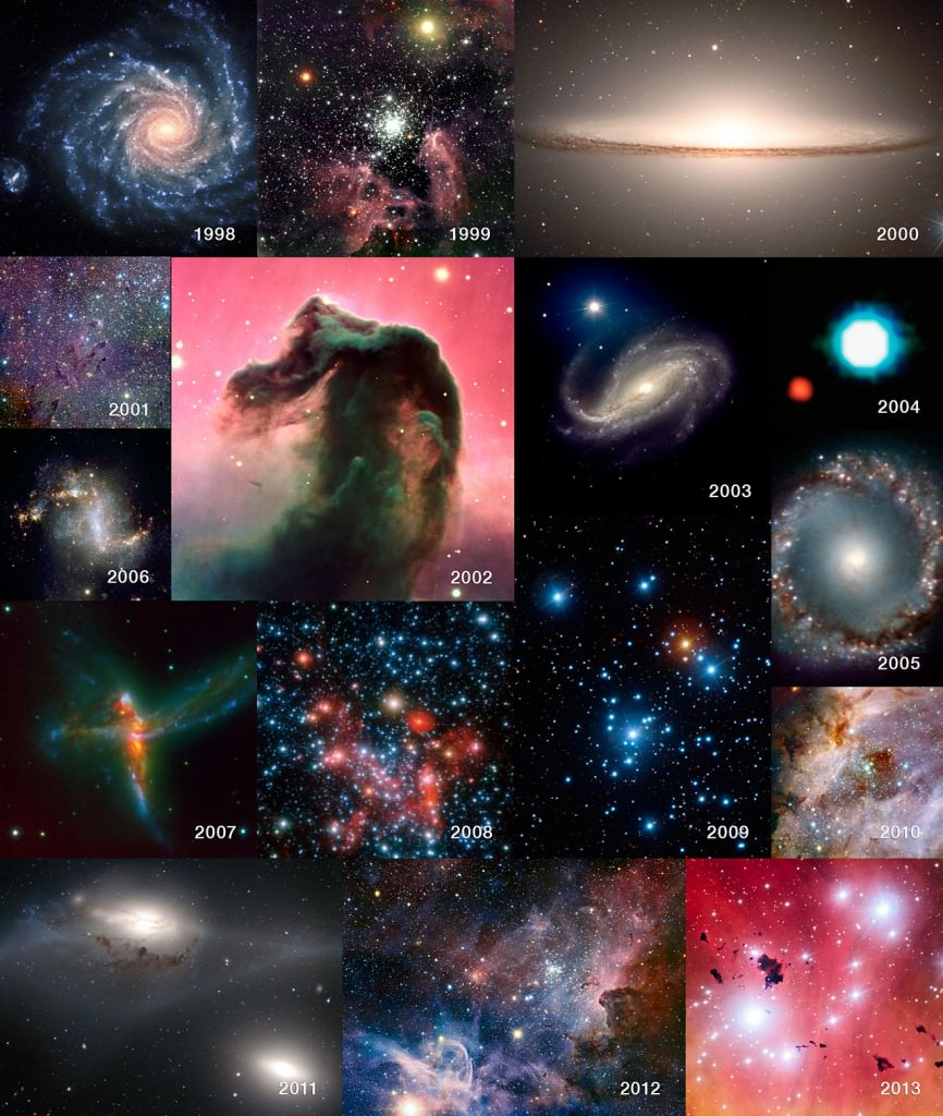 A selection of images from 15 years of the VLT