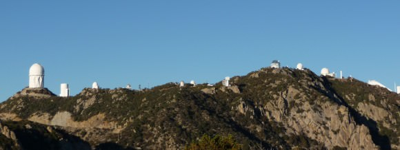 The view of Kitt Peak National Observatory, as seen from 1 mile below the summit.