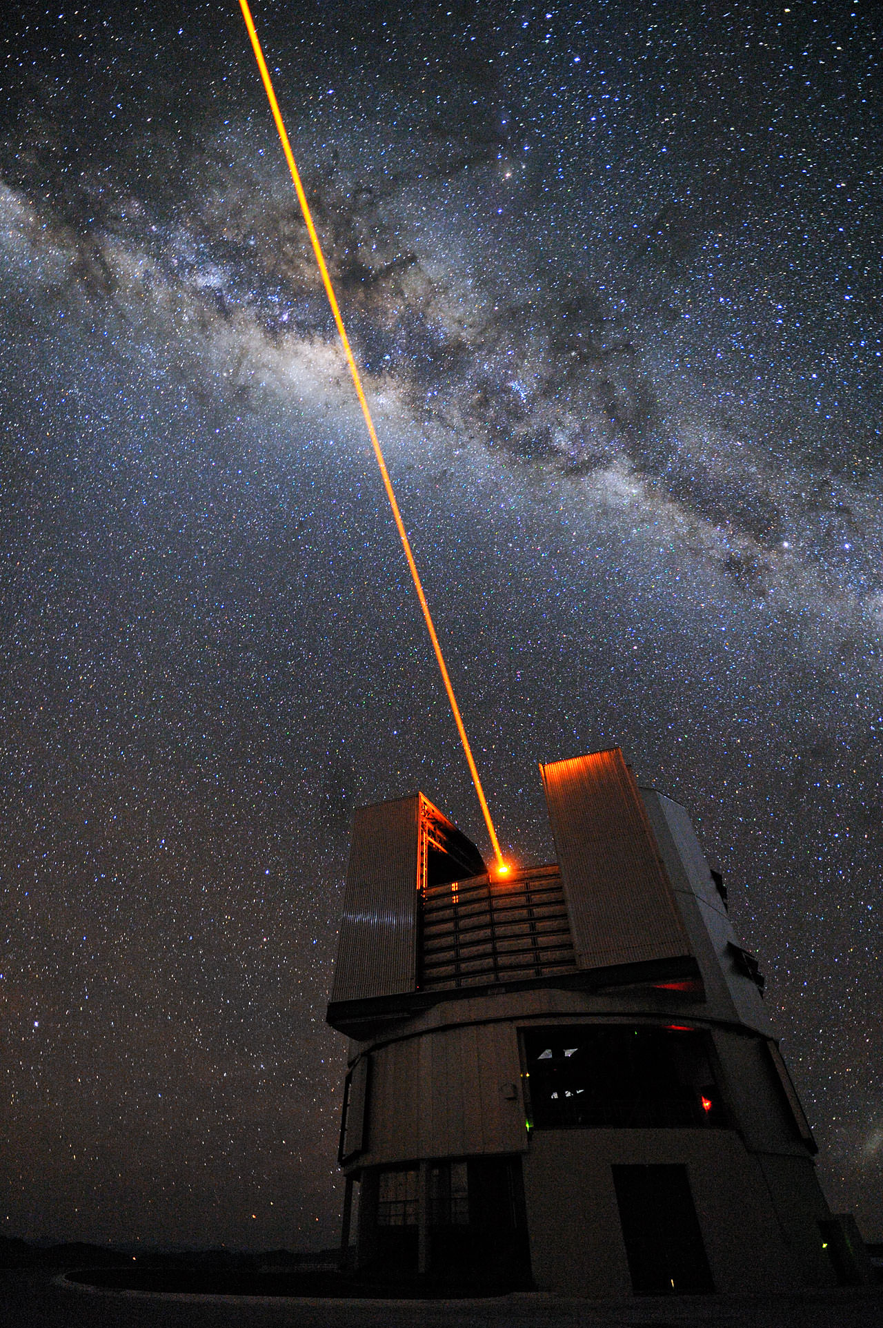 Gieren et al. used the 8.2-m Very Large Telescope (Yepun) to image M33, and deduce the distance to that galaxy (image credit: ESO).