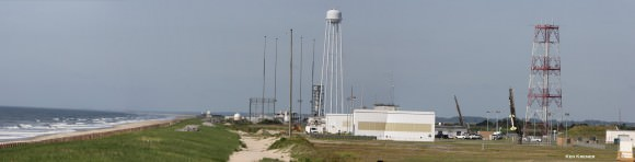 Panoramic view of the NASA Wallops Flight Facility launch range at Virginia's Eastern Shore during prior launch of two suborbital sounding rockets as part of the Daytime Dynamo mission. RockSat-X payload will launch on a Terrier-Improved Malemute sounding rocket.   Credit: Ken Kremer/kenkremer.com