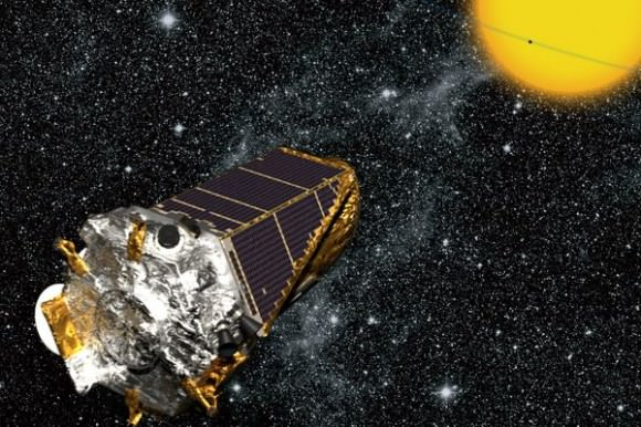 Illustration of the Kepler spacecraft.(NASA/Kepler mission/Wendy Stenzel)