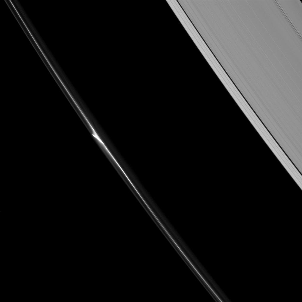 "A bright ""mini-jet"" spotted in Saturn's F ring"