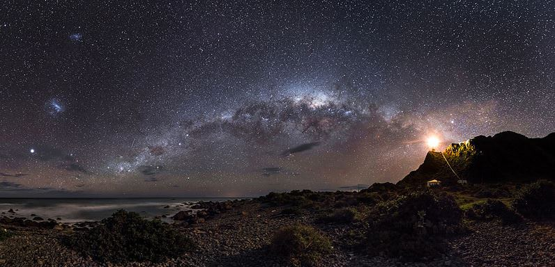 The overall winner of Astronomy Photographer of the Year 2013 photo from Mark Gee, titled 'Guiding Light to the Stars.' Credit and copyright: Mark Gee.