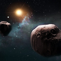 an asteroid is coined a Near Earth Asteroid (NEA) when its trajectory brings it within 1.3 AU from the Sun and  hence within 0.3 AU of the Earth's orbit.