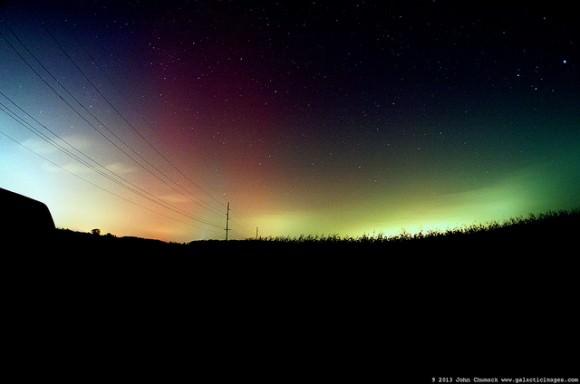 Aurora Borealis, 'The Northern Lights, as seen near Dayton, Ohio on October 2, 2013. Credit and copyright: John Chumack/Galactic Images.