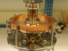 An Advanced Stirling Converter prototype in the laboratory. (Credit: NASA).