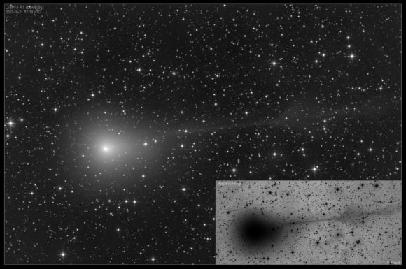 Comet 2013 R1 Lovejoy on Oct 31, 2013. Credit and copyright: Damian Peach.