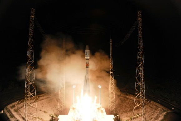 Gaia's launch aboard an Arianespace-operated Soyuz on Dec. 19, 2013 from ESA's facility in French Guiana (ESA)