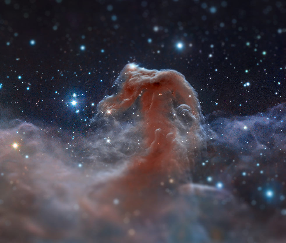 "Hubble image of the Horsehead Nebula, ""tilt-shifted"" by Imgur user ScienceLlama (Original image credit: NASA, ESA, and the Hubble Heritage Team (STScI/AURA))"