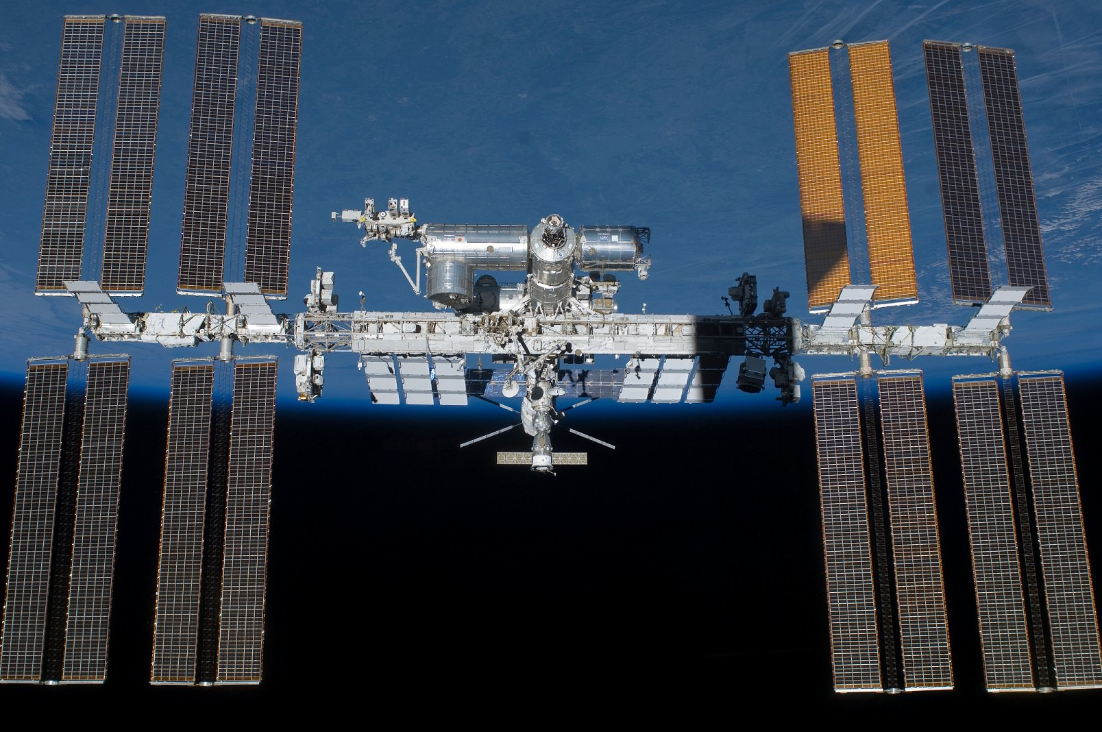 The International Space Station as seen by the departing STS-134 crew aboard space shuttle Endeavour in May 2011. Credit: NASA