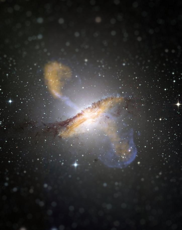 A tiny Centaurus A