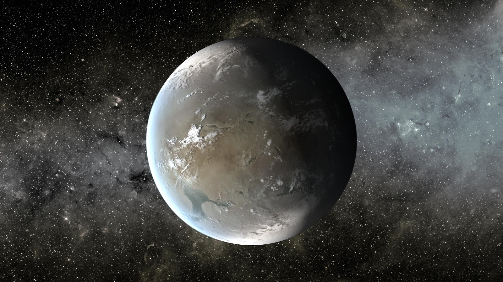 Artists impression of a Super-Earth, a class of planet that has many times the mass of Earth, but less than a Uranus or Neptune-sized planet. Credit: NASA/Ames/JPL-Caltech