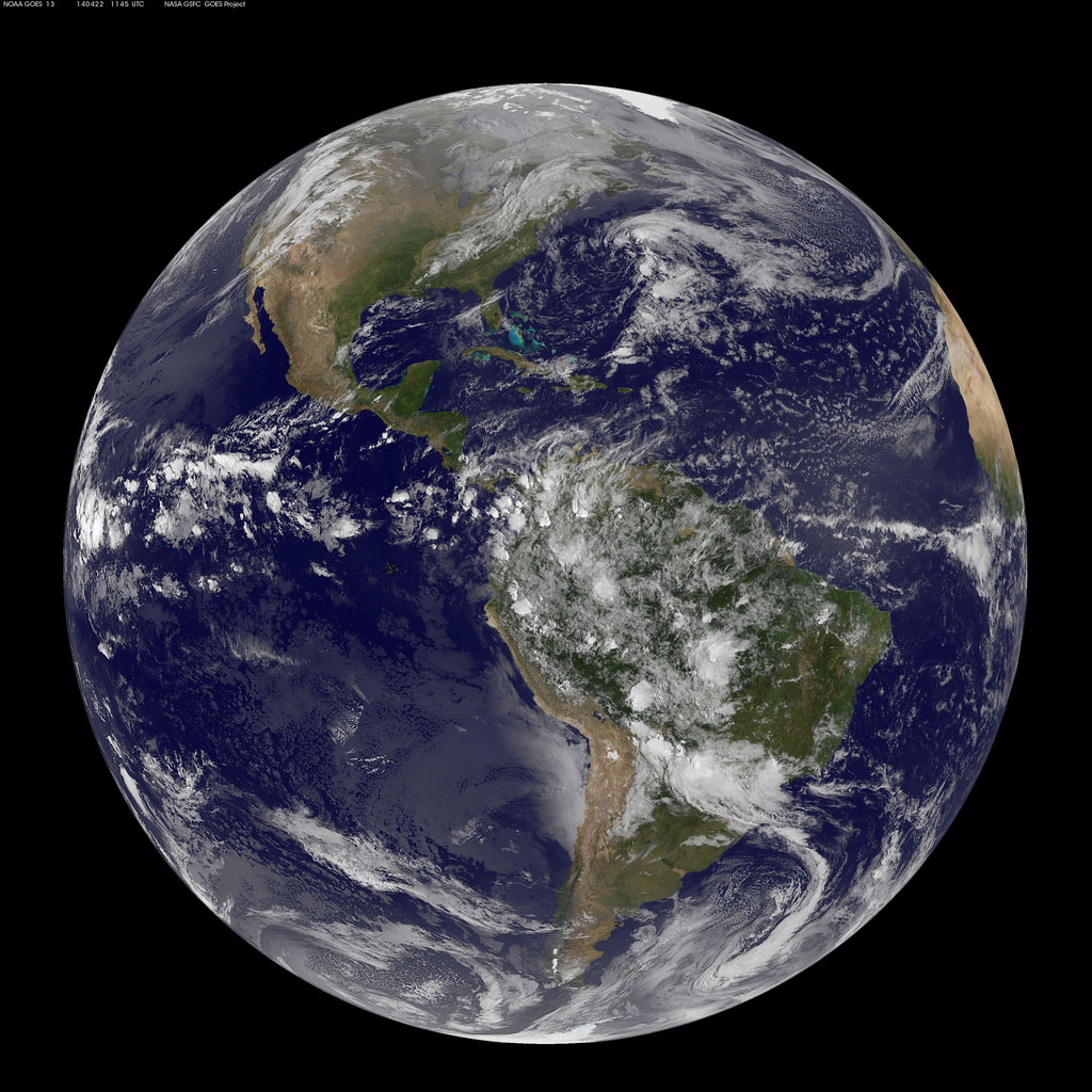 Picture of the earth from space today