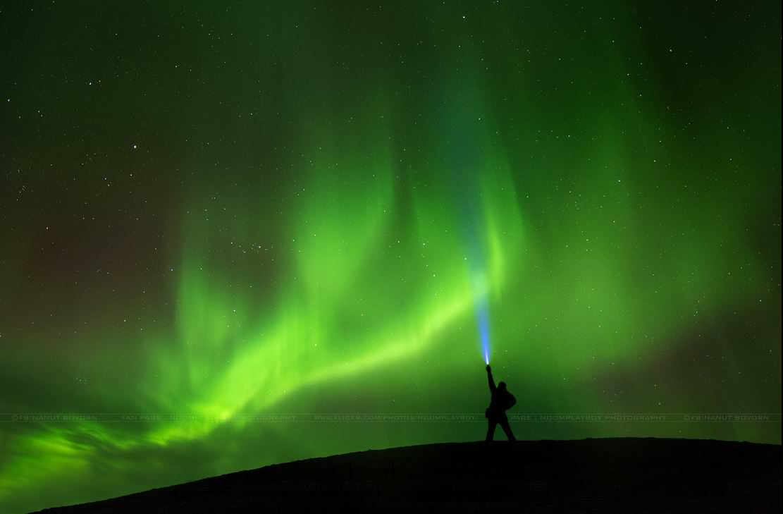 Aurora hunting in Iceland on March 26, 2014. Credit and copyright: Nanut Bovorn.